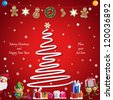 Vector illustration: Winter, Christmas, seasonal greeting card graphic design elements (Part 14) - stock vector