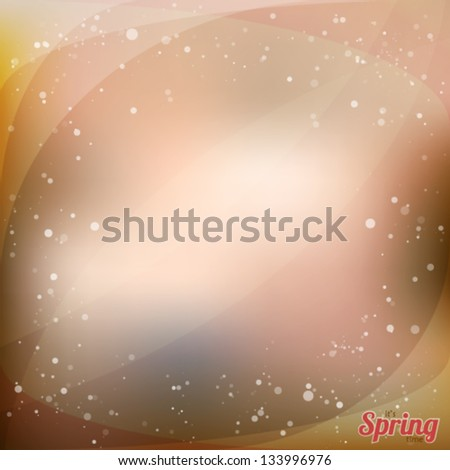 Vector illustration with abstract shining background. Space theme for your presentation - stock vector