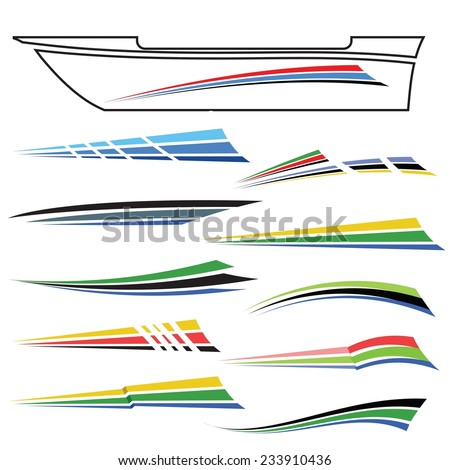 Vehicle Graphics Stock Images RoyaltyFree Images  Vectors - Boat graphic design decals
