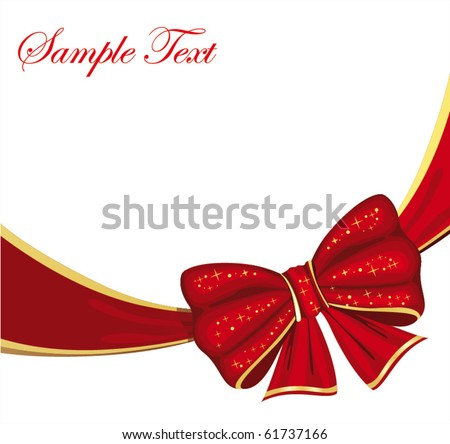 vector illustration with bow - stock vector