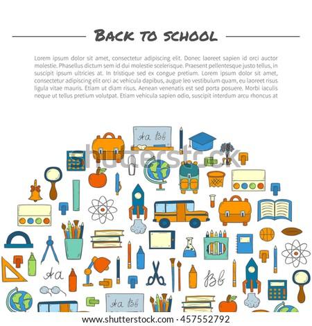 back school information cards set student stock vector 391039456 shutterstock. Black Bedroom Furniture Sets. Home Design Ideas