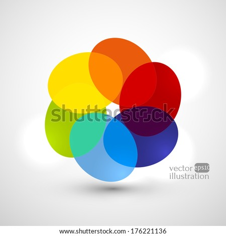 Vector illustration with colorful abstract subject. - stock vector