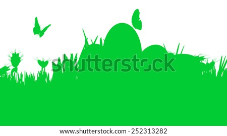 Vector illustration with Easter theme with egg.