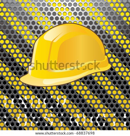 vector illustration with grunge text UNDER CONSTRUCTION - stock vector