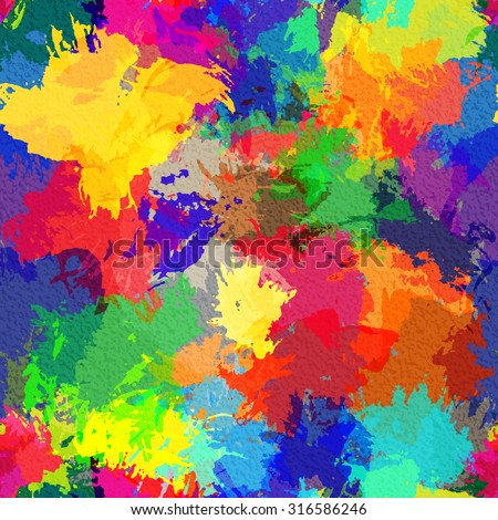Vector illustration with seamless colorful abstract watercolor background - stock vector