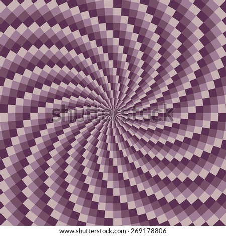 Vector illustration with spiral pattern.