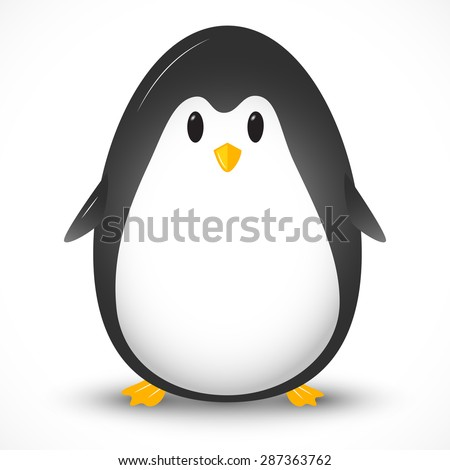 Vector illustration with the image of a penguin.