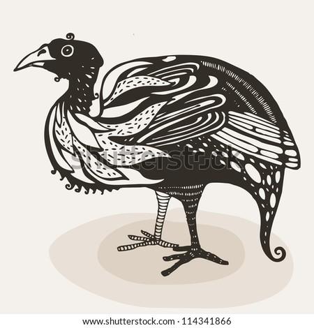 Vector illustration with turkey - stock vector