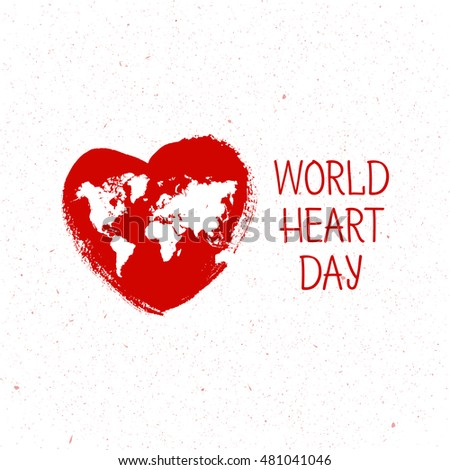 Vector illustration World Heart Day Background