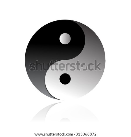 Vector illustration Yin and Yang object for general use - stock vector
