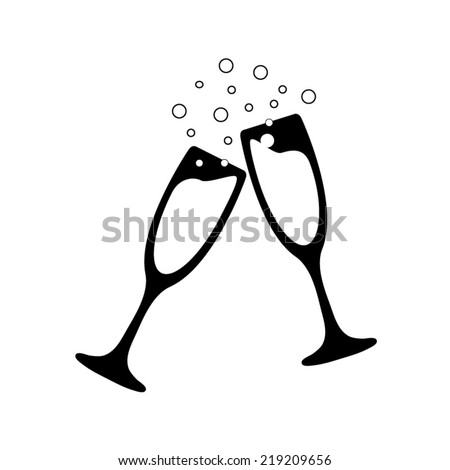 vector illustrations glasses of champagne