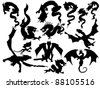 Vector Illustrations of Dragons - stock vector