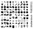 Vector Illustrations of 100 Icon Set 3 - stock vector