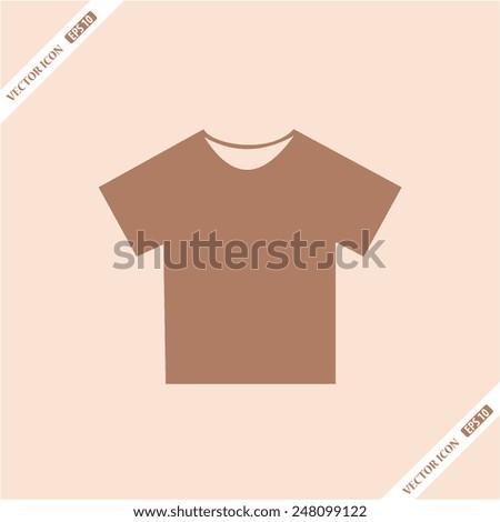 Vector illustrations T-shirt. Flat icon. - stock vector
