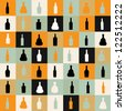 vector illustrationseamless pattern silhouette alcohol bottle - stock vector