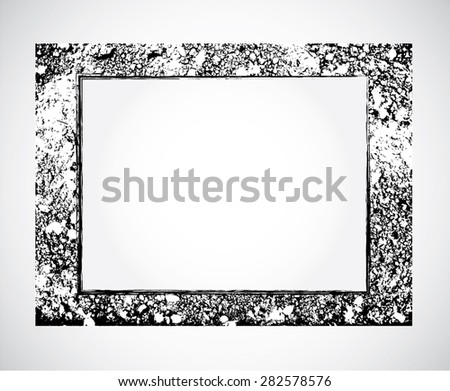 Vector illustrator, grunge frame style, abstract texture. - stock vector