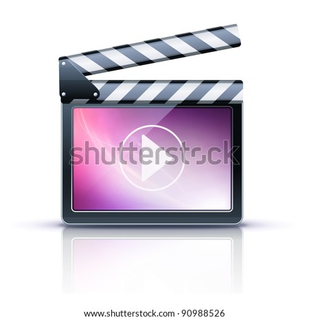 Vector illustrator of media player icon. - stock vector