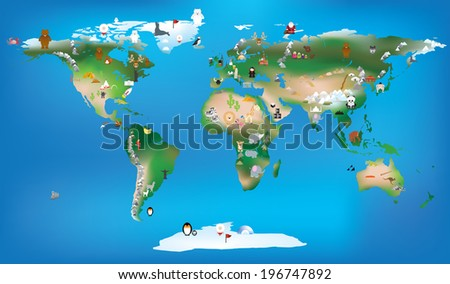 vector ilustration available as vector or jpeg pf the world as a fun educational tool, - stock vector