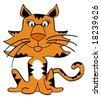 Vector image available on this mischievous tiger. - stock vector
