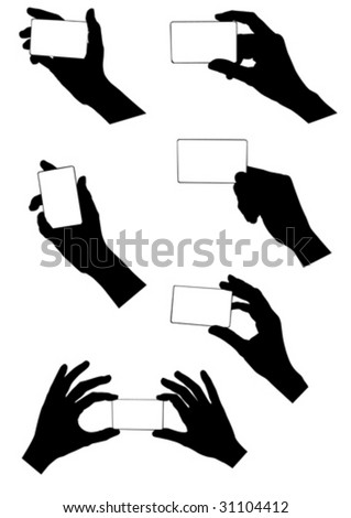 vector image hands with a credit card.