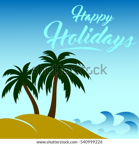 vector image happy holidays