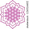 Vector image / Lotus of the heart - Flower of life / symbol harmony and balance - stock vector