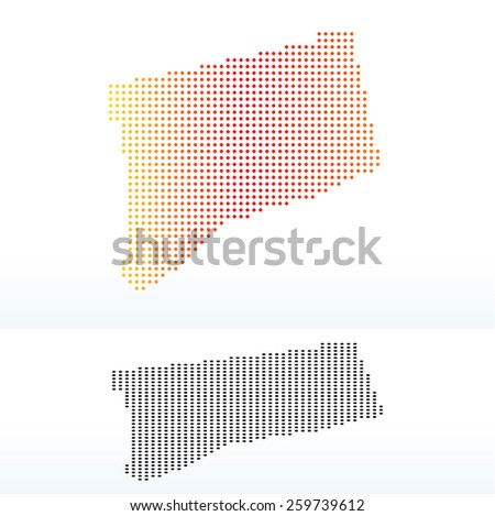 Label Map Connecticut Vector Illustration Stock Vector - Map of usa connecticut
