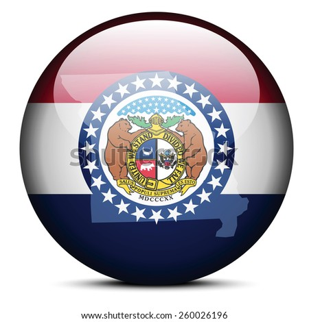 State Missouri Flag Inside Map Stock Vector Shutterstock - Missouri state map usa