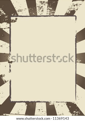 Vector image of a burst with space for copy - stock vector