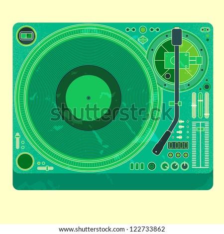 vector image of a classic DJ mixer - stock vector