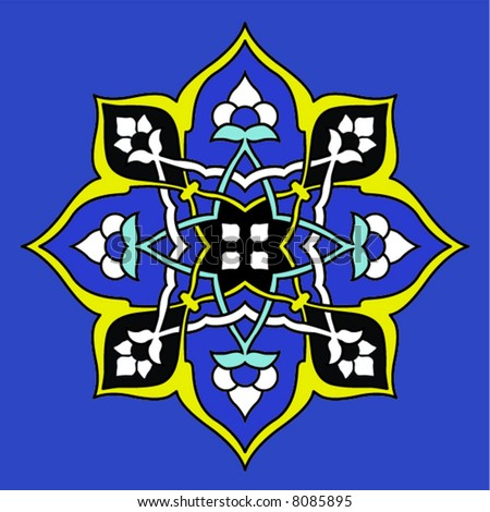 Vector image of a classic Turkish design tile.