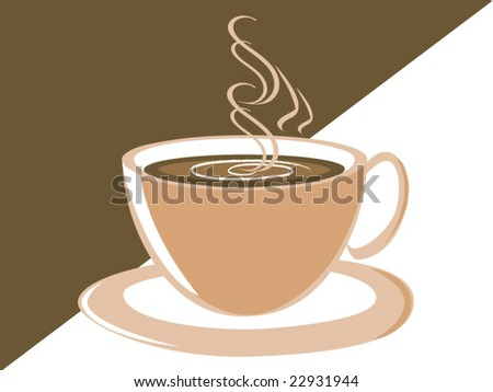 Vector image of a cup of coffee