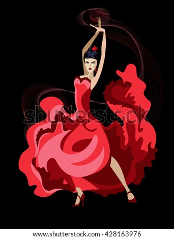 Vector image of a dancer Latin dance - stock vector