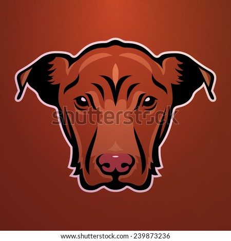 Vector image of a dog - stock vector