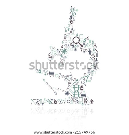 Vector image of a Microscope icon composition - stock vector