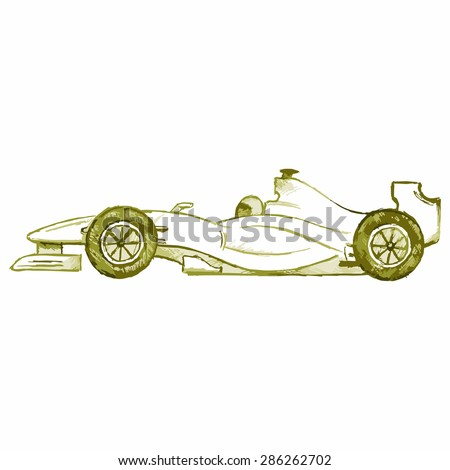 Vector image of a sports car - stock vector