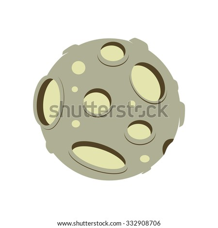Vector image of an asteroid in the sky. Icon and picture - stock vector