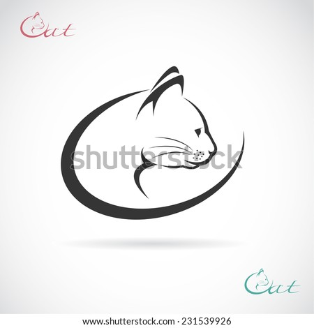 Vector image of an cat design on white background. - stock vector