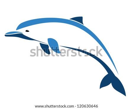 Vector image of an dugong - stock vector