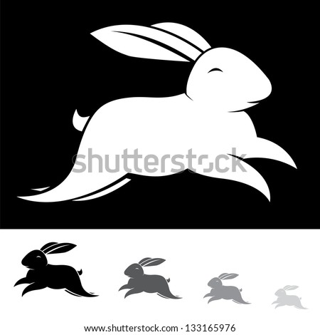 Running Rabbit Vector Vector Image of an Rabbit on