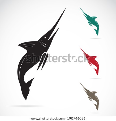 Vector image of an sailfish on white background - stock vector