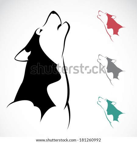 Vector image of an wolf on white background. - stock vector