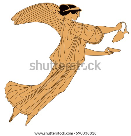Vector Image Ancient Greek Goddess Victory Stock Photo Photo