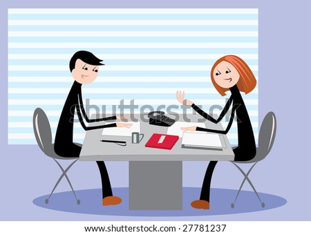 vector image of business meeting