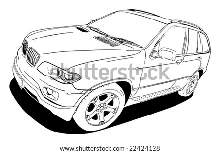vector image of car