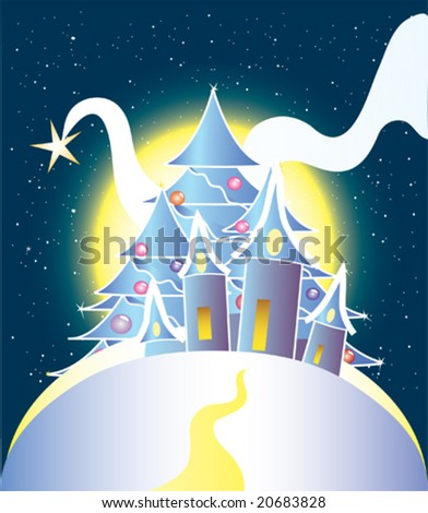 vector image of christmas greeting card