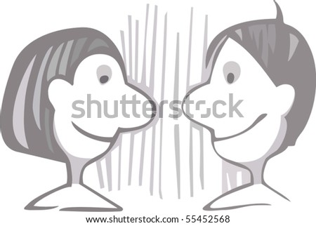 Vector image of couple