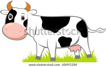 Vector image of cow