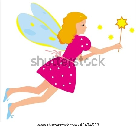 Vector image of fairy