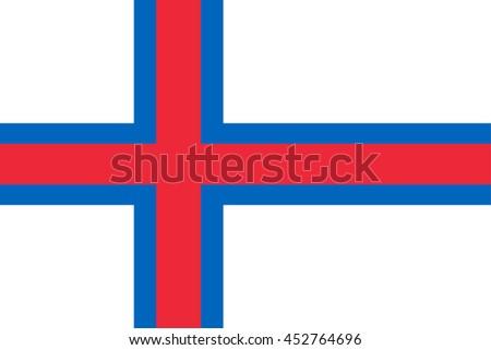 Vector image of  Faroe Islands flag.  Proportion2:3. EPS10. - stock vector